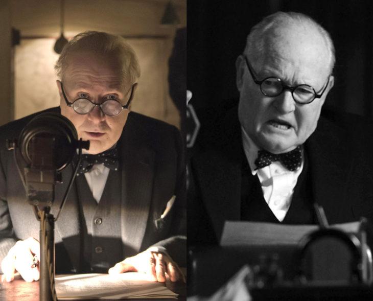 Actores que se parecen a los personajes históricos que interpretaron en películas; Gary Oldman, Winston Churchill, Las horas más oscuras