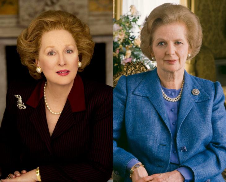 Actores que se parecen a los personajes históricos que interpretaron en películas; Meryl Streep, Margaret Thatcher, La dama de hierro
