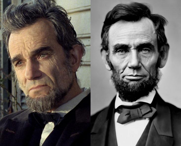 Actores que se parecen a los personajes históricos que interpretaron en películas; Daniel Day-Lewis, Abraham Lincoln