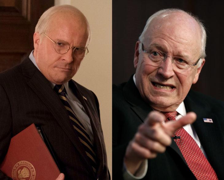 Actores que se parecen a los personajes históricos que interpretaron en películas; Christian Bale, Dick Cheney, El vicio del poder