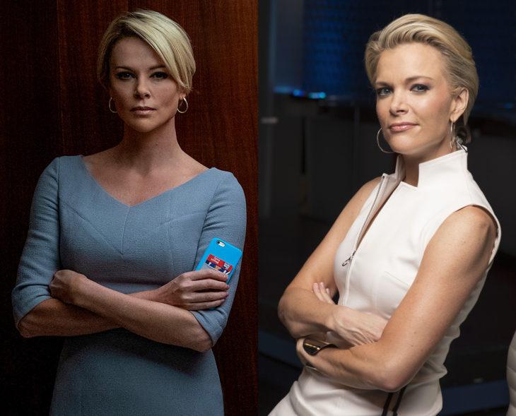 Actores que se parecen a los personajes históricos que interpretaron en películas; Charlize Theron, Megyn Kelly, Bombshell, El escándalo