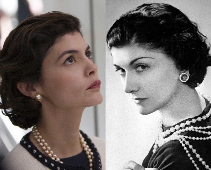 Actores que se parecen a los personajes históricos que interpretaron en películas; Audrey Tautou, Coco Chanel