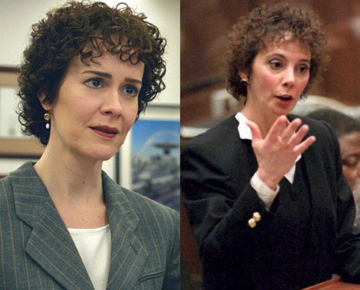 Actores que se parecen a los personajes históricos que interpretaron en películas; Sarah Paulson, Marcia Clark, American Crime Story