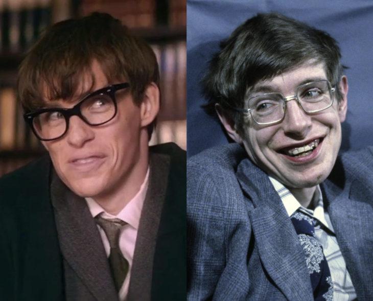 Actores que se parecen a los personajes históricos que interpretaron en películas; Eddie Redmayne, Stephen Hawking, La teoría del todo