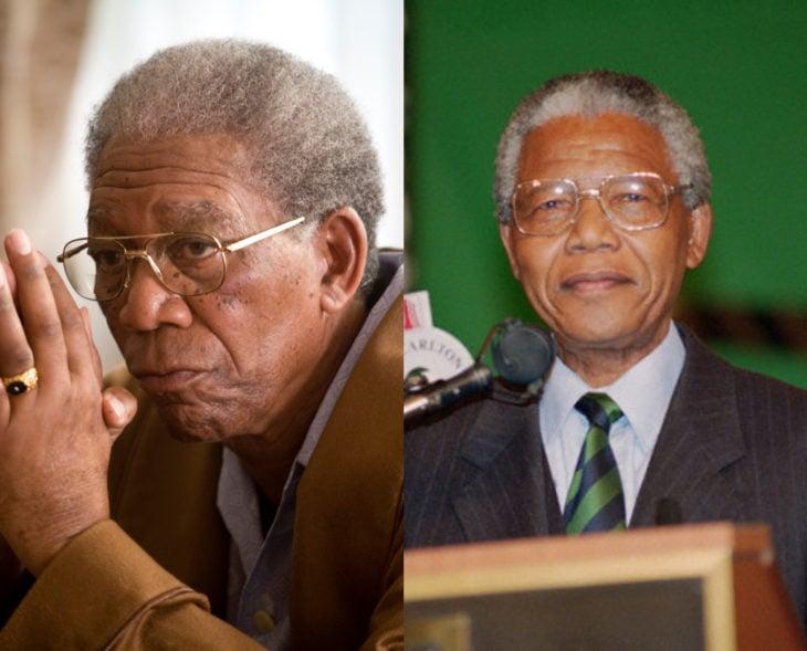 Actores que se parecen a los personajes históricos que interpretaron en películas; Morgan Freeman, Nelson Mandela, Invictus