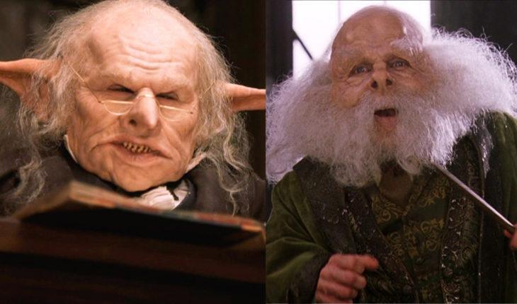 Warwick Davisinterpretando dos papeles distintos en la saga de Harry Potter