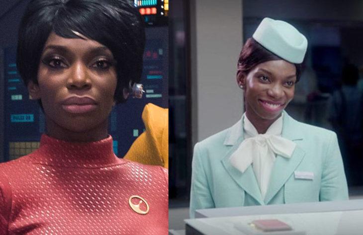 Michaela Coel interpretando a dos personajes en Black Mirror