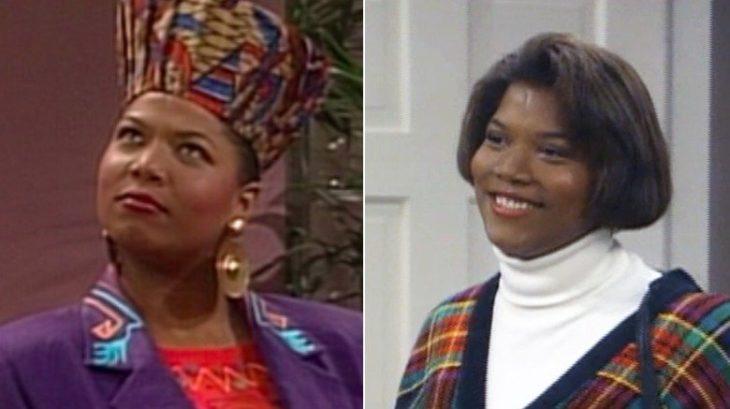 Queen Latifahinterpretando a dos personajes diferentes en la serie El príncipe del Rap