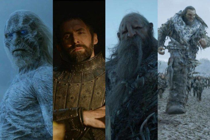Ian Whyteinterpretando a varios personajes de la serie Game of Thrones