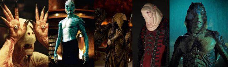 Doug Jonesinterpretando a diferentes personajes en las películas de Guillermo del Toro