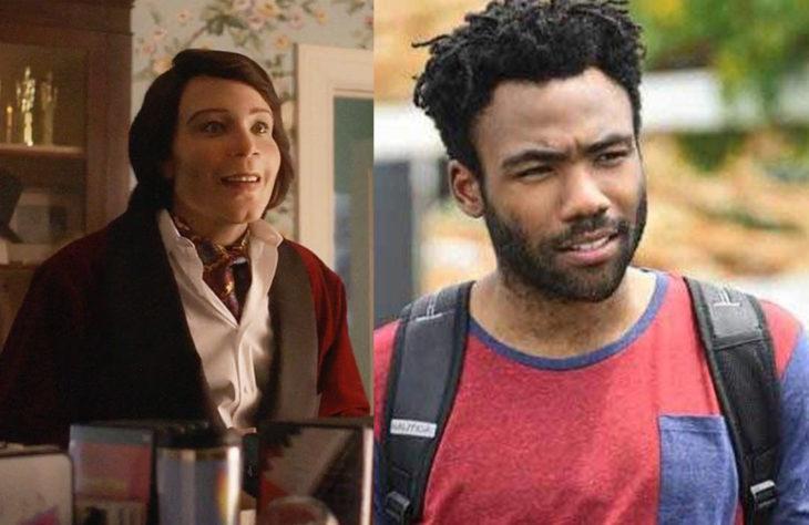 Donald Gloverinterpretando a dos personajes diferentes de la serie Atlanta
