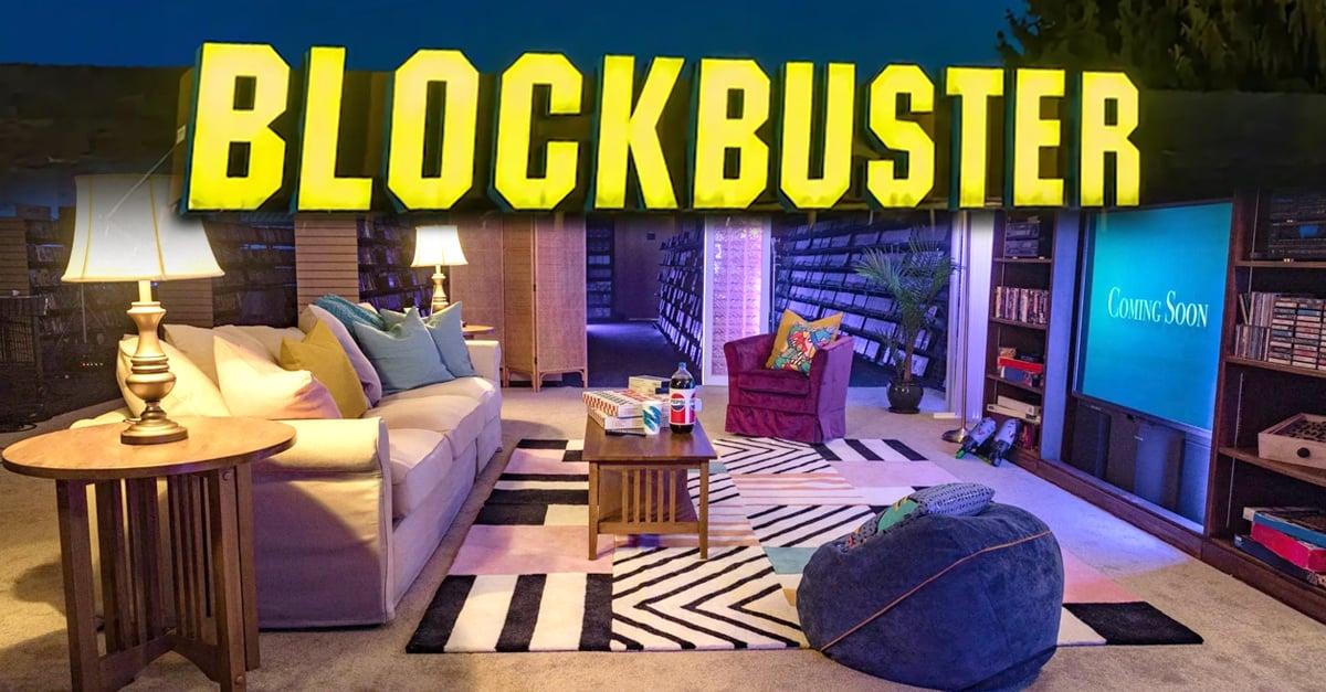 Blockbuster se une a Airbnb y podrás pasar una noche al estilo de los 90