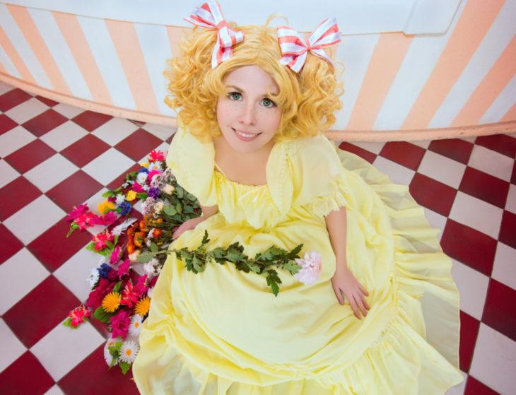 Cosplay, disfraz de Candy White Andrew; vestido amarillo
