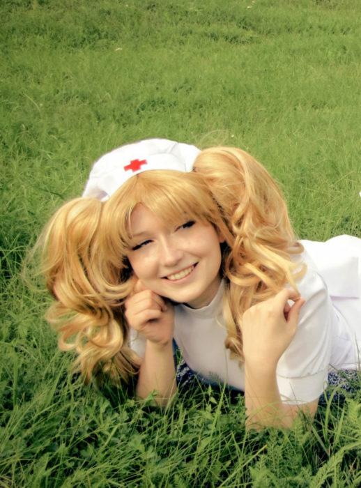 Cosplay, disfraz de Candy White Andrew; uniforme de enfermera