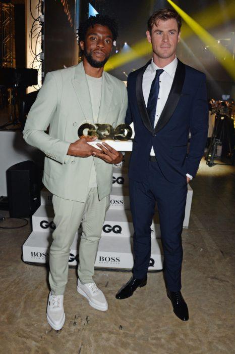 Chadwick Boseman y Chris Hemsworth