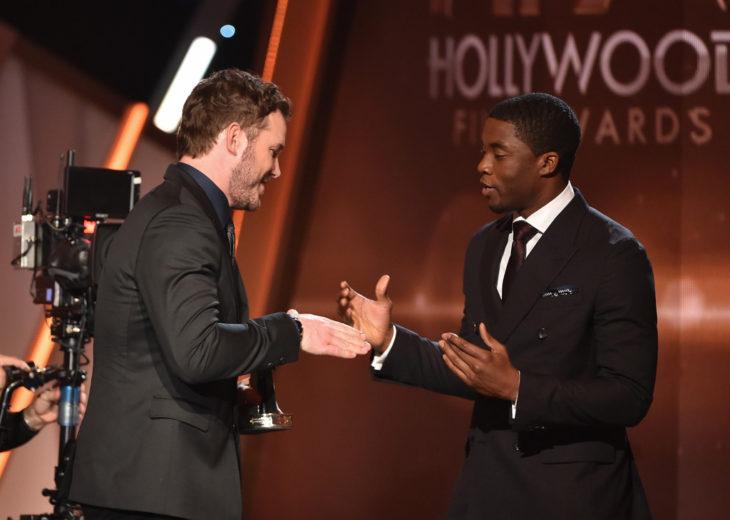 Chadwick Boseman y Chris Pratt
