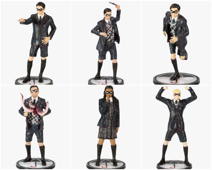 Muñecos de colección inspirados en la serie The Umbrella Academy