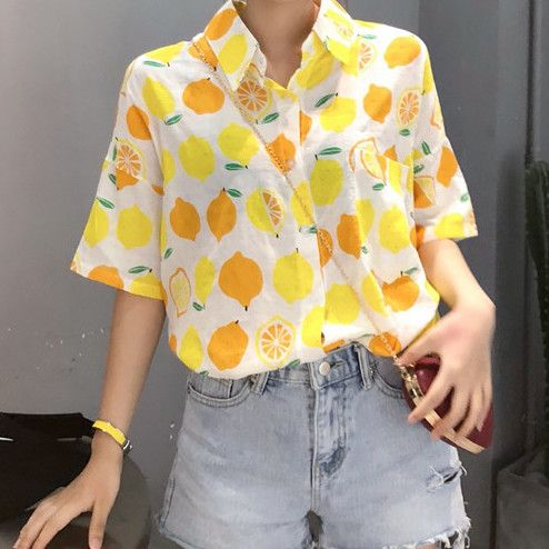 Ideas to combine shorts with a lemon print shirt