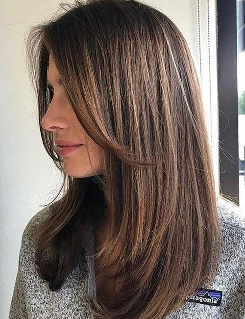 Corte de cabello en capas largas