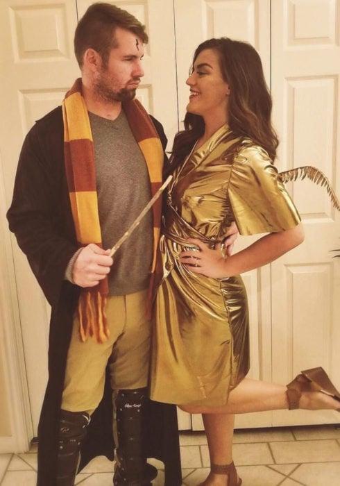 Disfraces de pareja de películas y caricaturas; Harry Potter, Snitch dorada