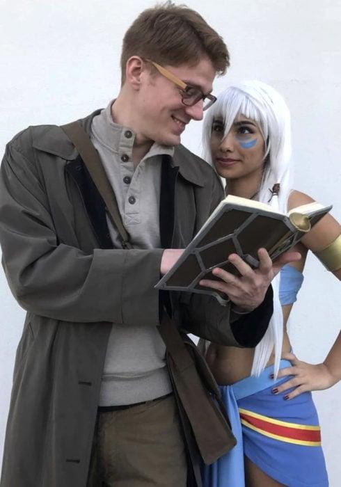 Disfraces de pareja de películas y caricaturas; Atlantis, el imperio perdido, Kida, Milo James Thatch