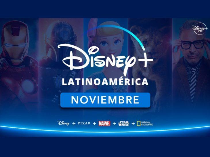 Publicidad de Disney+ de su llegada a Latinoamérica