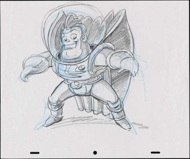 Primeros bocetos de Buzz Lightyear
