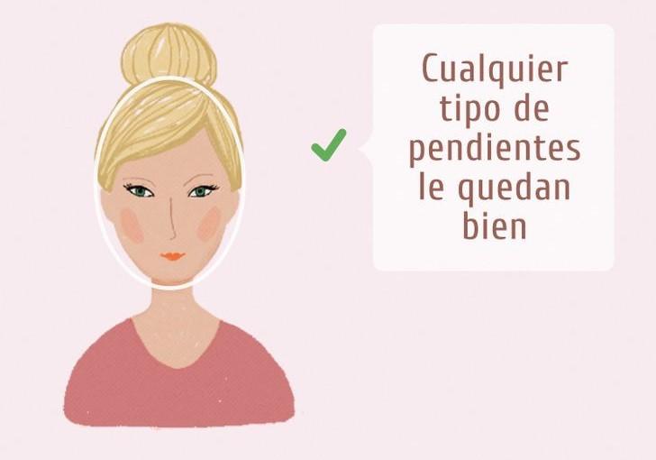 Ilustración de chica con rostro ovalado y el tipo de pendientes que mejor le van según la forma de su rostros