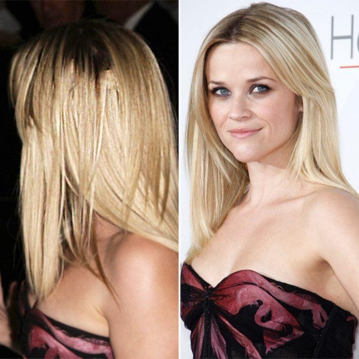 Reese Witherspoon con extensiones evidentes de cabello