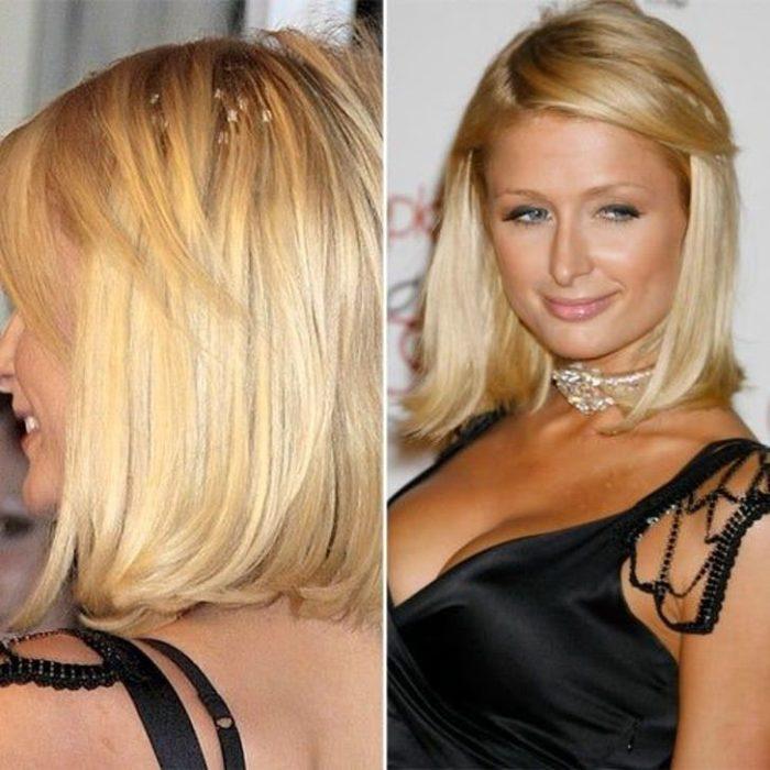 Paris Hilton con melena corta y extensiones de cabello