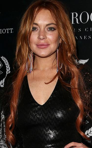 Lindsay Lohan con extensiones de cabello