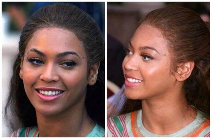 Beyonce usando peluca