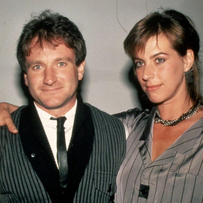 Robbin Williams junto a si exesposa Valerie