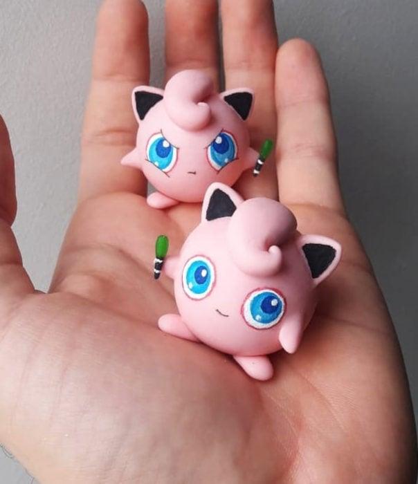 Artista escultor Luki Art crea pequeñas figuras de personajes de caricaturas y películas; Pokémon en pokebola; Jugglypuff