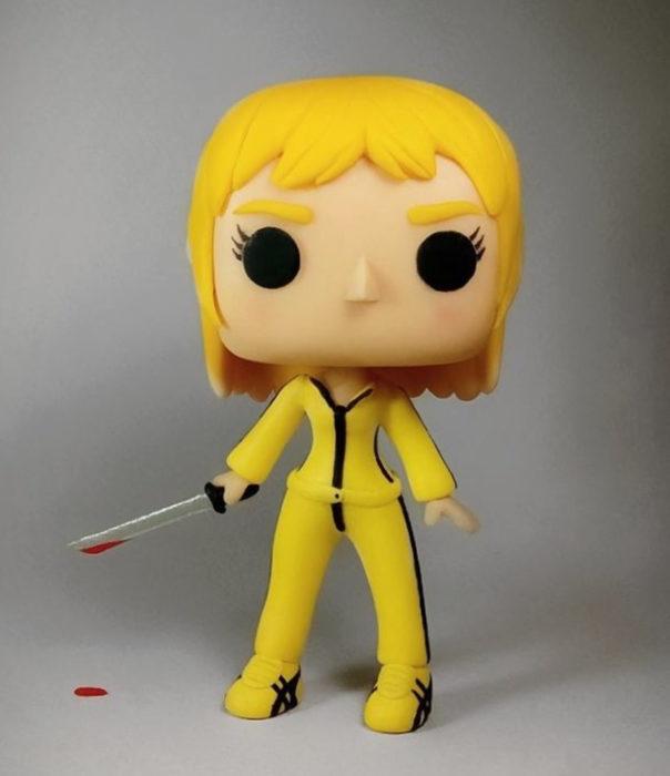 Artista escultor Luki Art crea pequeñas figuras de personajes de caricaturas y películas; Kill Bill