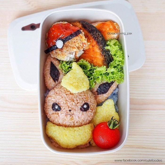 Platillo de comida inspirado en el pokémon Flareon