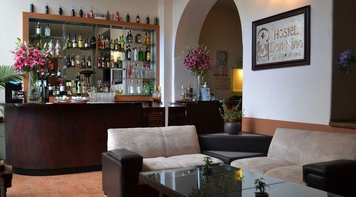 Recepción del Hotel don Nino en Oaxaca