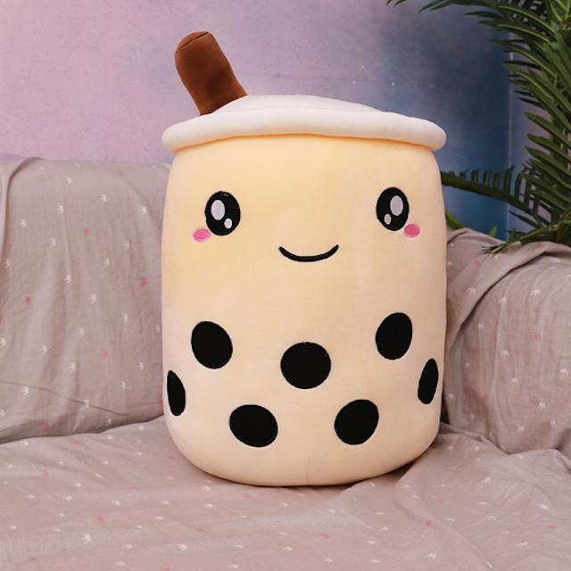 Almohada en forma de vaso de café con leche