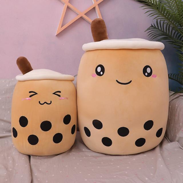 Almohadas en forma de vasos de café con leche