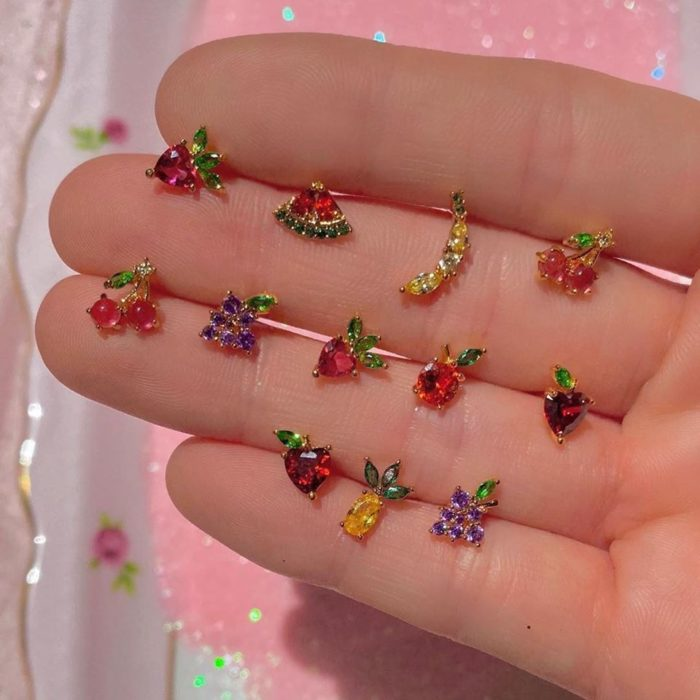 Small fruit earrings
