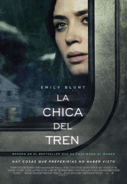 """Póster de la película de misterio """"La chica del tren"""""""
