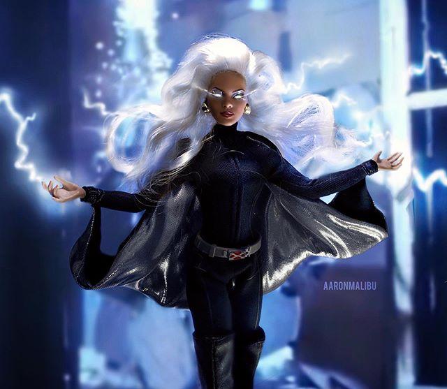 Muñeca barbie de el artista Aaron Malibu, Tormenta de X-Men