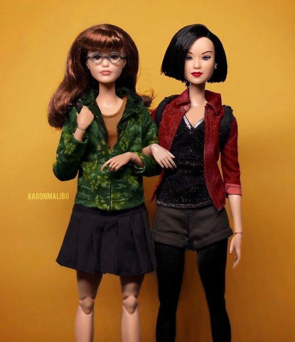 Muñeca barbie de el artista Aaron Malibu, Daria y Jane