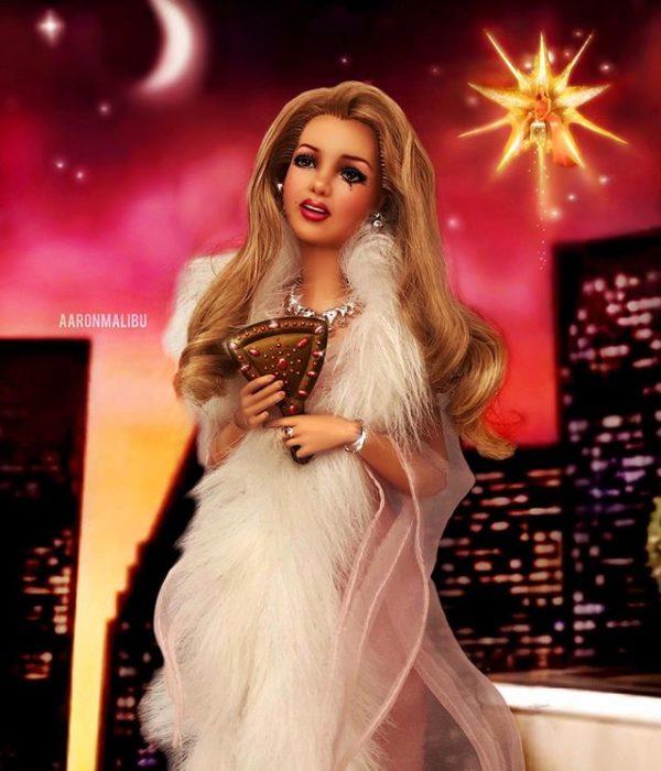 Muñeca barbie de el artista Aaron Malibu, Britney Spears