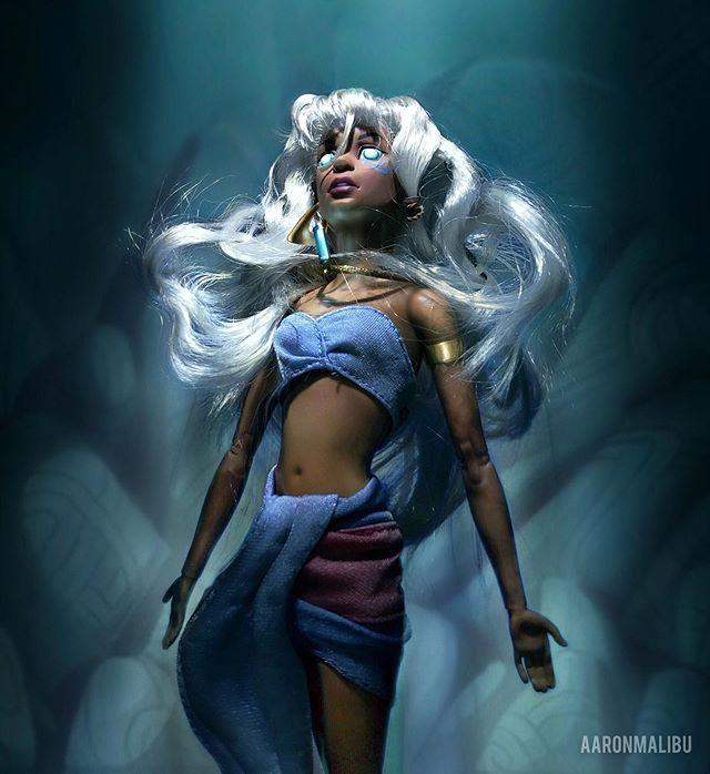 Muñeca barbie de el artista Aaron Malibu, Kida de Atlantis el imperio perdido