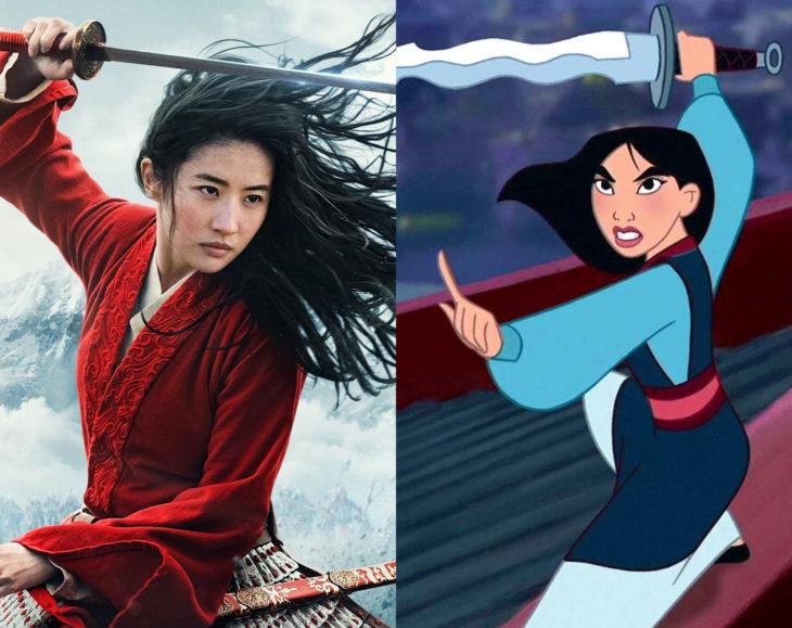 Actores que se parecen mucho al personaje animado que interpretaron; Liu Yifei, Mulan