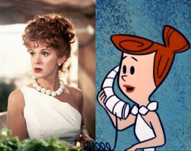 Actores que se parecen mucho al personaje animado que interpretaron; Elizabeth Perkins, Vilma Picapiedra