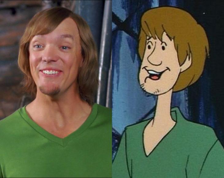 Actores que se parecen mucho al personaje animado que interpretaron; Shaggy, Scooby Doo