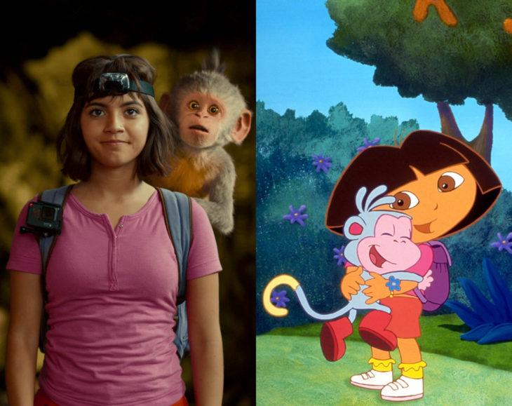 Actores que se parecen mucho al personaje animado que interpretaron; Isabela Moner, Dora la exploradora