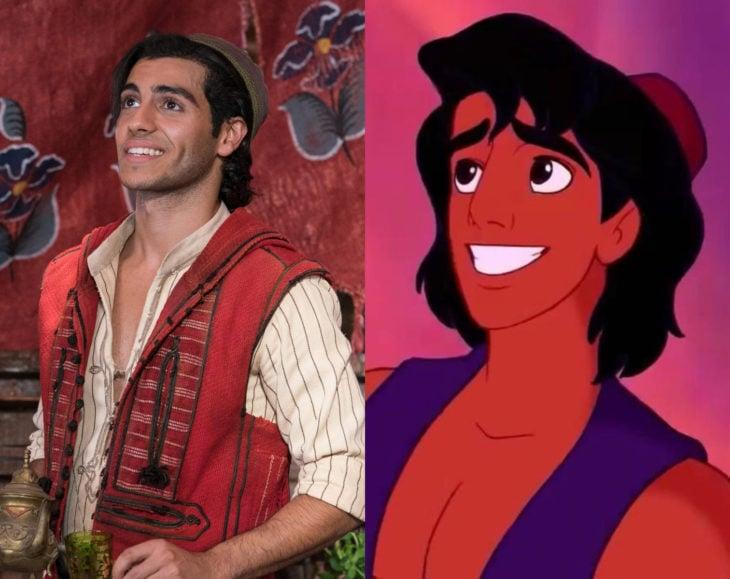 Actores que se parecen mucho al personaje animado que interpretaron; Mena Massoud, Aladdín